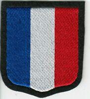 """Ecusson de bras brodé """"France"""" Charlemagne - Frankreich Freiwilliger"""