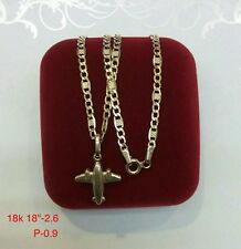 GoldNMore: 18K Necklace and Pendant 18 inches 3.5G