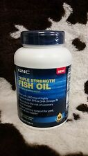 New Sealed GNC Triple Strength Fish Oil 1000 mg 120 caps