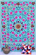 Cotton Uzbek Bed Sheet Indian Embroidery Bed cover suzani Bedspread Pillow Cover