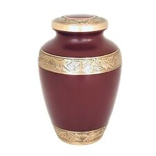 Well Lived® Red and Brass Adult Cremation Urn for human ashes