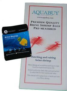 Artimia eggs Shrimp Brine 1  pack - Pre-Measured 500mL of water