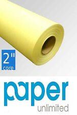"1 Roll 36"" x 150' Yellow 20lb Bond Cad Plotter Paper Inkjet 2"" Core"
