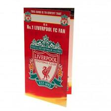 LIVERPOOL FC BIRTHDAY CARD No 1 FAN  WITH ENVELOPE PRESENT NEW XMAS GIFT