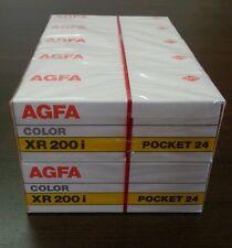 10 PACK agfa film  xr 200i 110-24 POCKET 24 SEALED EXPIRED 1989 camera color