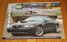 Original 2001 Ford Mustang Bullitt Sales Brochure