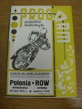 20/07/1975 SPEEDWAY programma: RIGA rybnik V POLONIA A bydgoszcz. bobfrankandelvis