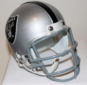 Bo Jackson Oakland Raiders Riddell Custom Mini Helmet w/ Metal Face Mask