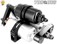 TWIN Bosch 044 Pompe carburante +, ALTO FLUSSO COLLETTORE FILTRO CULLA MONTAGGIO NERO