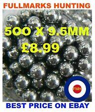 """9.5mm Catapult Slingshot Ammo 3/8"""" Steel Ball Bearings X 500BEST PRICE ON EBAY"""