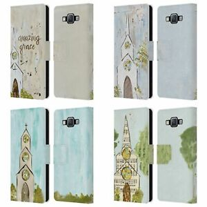 OFFICIAL HALEY BUSH CHURCH PAINTING LEATHER BOOK CASE FOR SAMSUNG PHONES 2