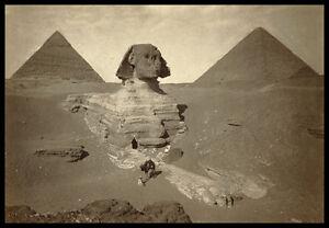 PH12 Vintage 1800's Sphinx Egypt Egyptian Pyramids Dream Stela Photo A3/A2