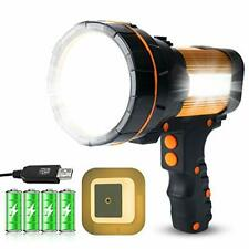 LED Torch Light Handheld with 4 USB Rechargeable Batteries (6000 Lumens)