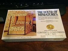 1/12 SCALE CHIPPENDALE CANOPY BED KIT #40014 HOUSE OF MINIATURES OPEN COMPLETE