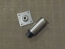 2 Adjustable Stainless Steel Round Leg, 150mm, Mounting Plate Included
