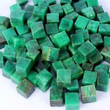 200 Cts Uncut Unpolished Natural Colombian Emerald Gemstone Big Rough Cubes Lot