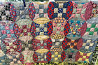 Vintage+Handmade+Quilt+Multicolored+Floral+Circles+%2A+DAMAGED%2F+CUTTER%2A+80%E2%80%9D+X+90+%E2%80%9D