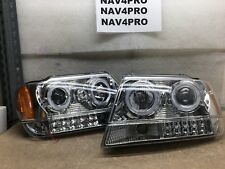 99 00 01 02 03 04 Jeep Grand Cherokee Projector Head Light LED Halo Pair #H308