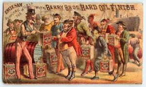 UNCLE SAM SUPPLYING THE WORLD*BERRY BROS HARD OIL FINISH*VARNISH*M R ROLL PAINT