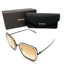 Dolce & Gabbana DG 2225 1311/6E Black Women's Authentic Sunglasses 52-26