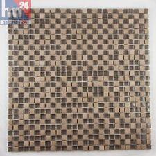 Pâte de verre plaque pierre naturelle carrelage mosaïque brun