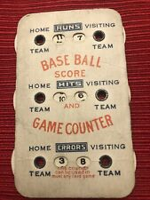 *Vintage Seattle Base Ball Score Game Counter, By Heater Gloves Co.*