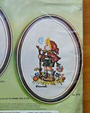 UNOPENED PARAGON HUMMEL PEASANT BOY CREWEL EMBROIDERY KIT WITH FRAME - 11 x 14