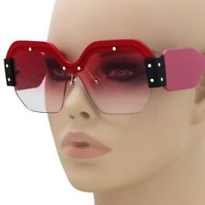 87665c325cf Large Oversized Semi Rimless Sunglasses For Women Trendy Candy Color  Designer