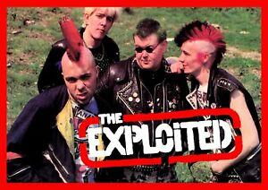 """Reproduction Alternate """"The Exploited - Pose"""" Poster, Punk, Size A2"""