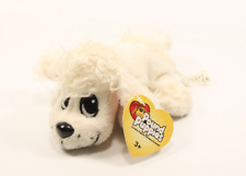 "2004 Mattel Pound Puppies Dog 6"" Plush Stuffed Animal White Poodle NWT"