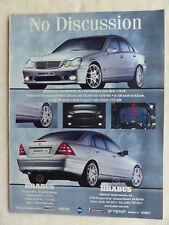 Brabus CV8 Mercedes C-Klasse - Werbeanzeige Reklame Advertisement 2000 __ (470