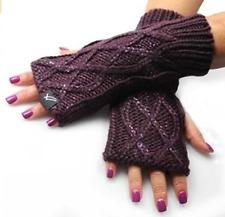 William Rast Women's Finger-less Acrylic Gloves Wine Sparkle NWT MSRP $36