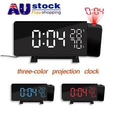 AU Projection Alarm Clock FM Radio LED Temperature Humidity Display Projector