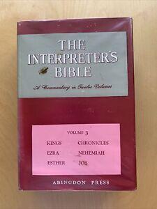 The Interpreter's Bible: Kings-Job v. 3 by Buttrick, George Arthur Hardback The