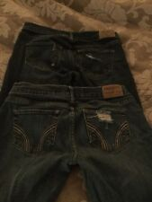 Lot Of 2 Hollister Distressed Skinny Jeans Sz 25 VGUC