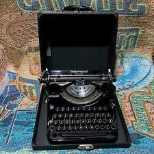 Vintage 1936 Underwood Universal Portable Typewriter with the Case - Works Good