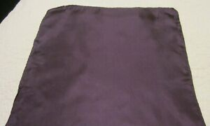 100% Silk Plum Colored Pocket  Square  16 Inch X 16 Inch