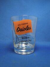 1966 Baltimore Orioles American League Baseball Champions MLB Vintage Glass