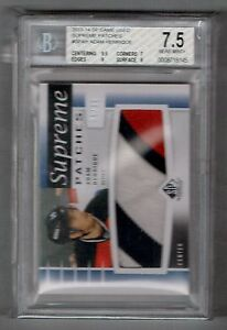 2013-14 UD SP Game Used Adam Henrique 3 Color Patch #D 05/12 BGS 7.5 Near Mint +