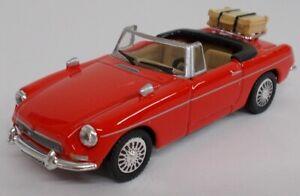 MG B cabriolet ouvert rouge,CAR251ND, échelle1/43,CARARAMA