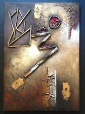 Abstract Assemblage Painting - 20th Century - Large - Mixed Media - 3D Recycle