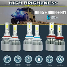 9005 + 9006 + H11 6000K 5400W 810000LM Combo CREE LED Headlight Kits Hi Low Bulb