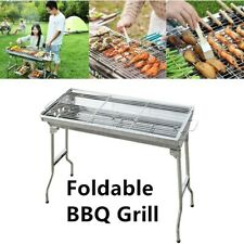 Portable BBQ Barbecue Charcoal Grill Stainless Steel Folded Yard /Outdoor Cooker