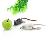 Soft Rubber Large Mouse Top Water Bass Bait Fishing Lures Baits Tackle Hooks JT