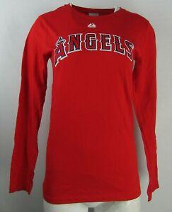 Los Angeles Angels MLB Women's Majestic Long Sleeve Crew Neck Shirt