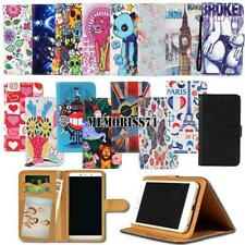 For Various SmartPhones Folio Leather Stand Wallet Card Cover Case + Strap