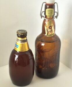 2 Vintage Beer Bottles Grolsch Beer 16 oz & Corona Genuina Cerveza De Barril