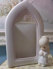 1981 Precious Moments ~ My Guardian Angel Picture Frame ~ #E-7168 Cross Mark