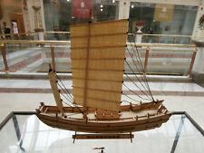 Wooden china sail boat fishing boat shanghai jinshan wood sailing junk ship kit