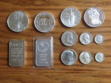 Variety Lot of Silver Coins, Silver Eagle, Silver Rounds & Bars -- Bundle A